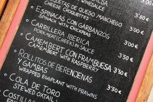 Expensive Tapas in Seville.