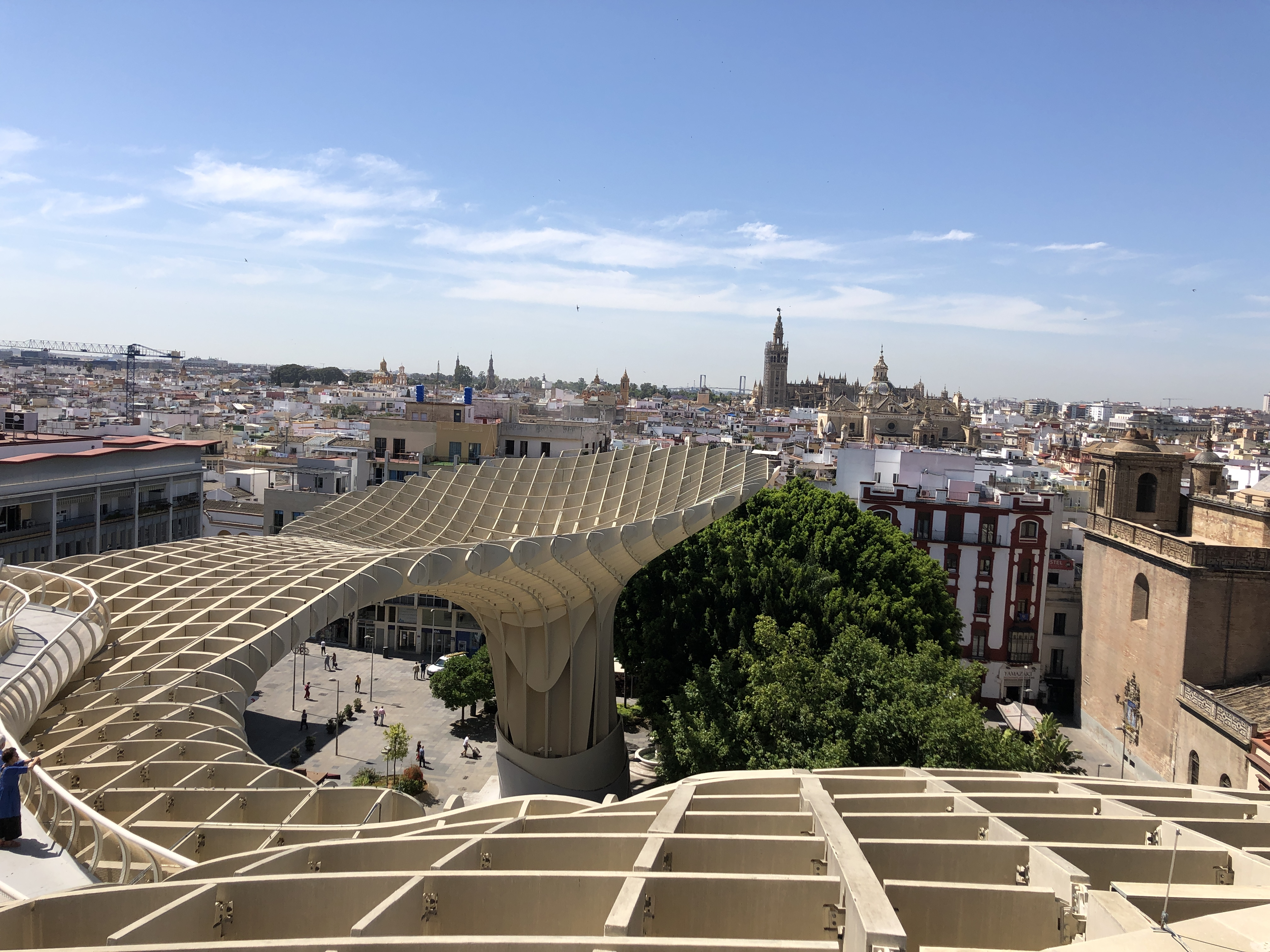 360 degree view of Seville.