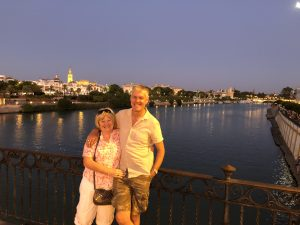 Jean and Adrian Roberts in Seville.